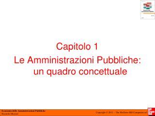 Capitolo 1 Le Amministrazioni Pubbliche: un quadro concettuale