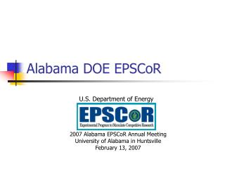 Alabama DOE EPSCoR