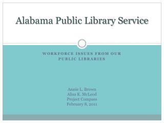Alabama Public Library Service
