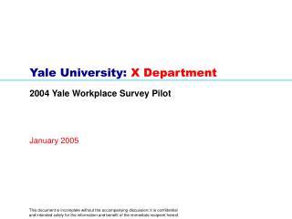Yale University:  X Department