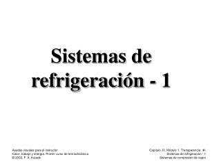 Sistemas de refrigeraci�n - 1