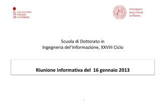 Scuola di Dottorato in  Ingegneria del'Informazione, XXVIII Ciclo