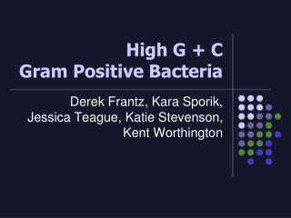 High G  C  Gram Positive Bacteria
