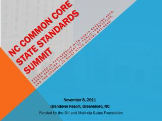 NC Common Core State Standards Summit