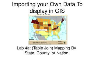 Importing your Own Data To display in GIS