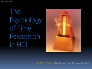 The Psychology of Time Perception in HCI