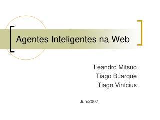 Agentes Inteligentes na Web