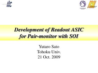 Development of Readout ASIC for Pair-monitor with SOI