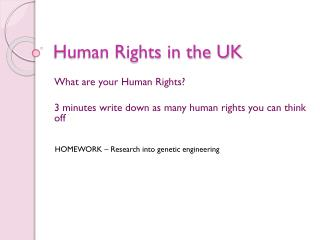 Human Rights in the UK