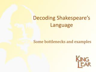 Decoding Shakespeare's Language