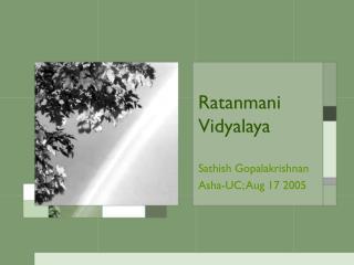 Ratanmani Vidyalaya