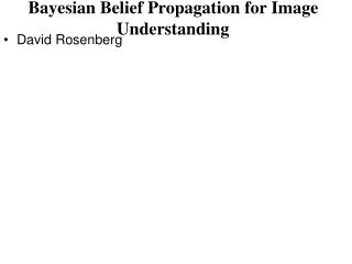 Bayesian Belief Propagation for Image Understanding