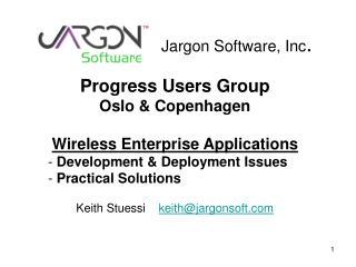 Jargon Software, Inc .