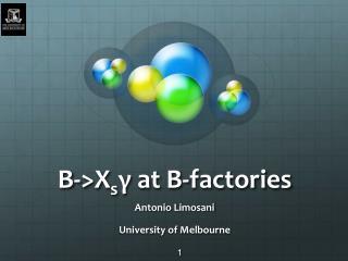 B->X s γ  atB-factories