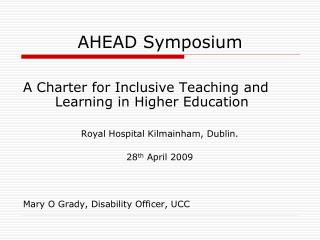 AHEAD Symposium