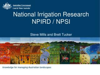 National Irrigation Research NPIRD