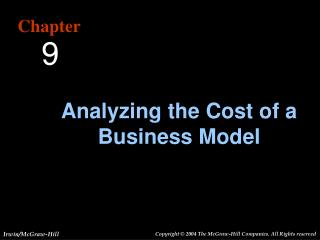 Analyzing the Cost of a Business Model