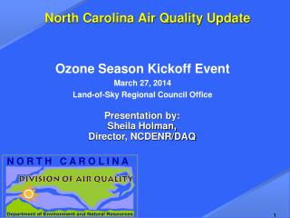 North Carolina Air Quality Update