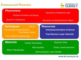 Femtosecond Photonics