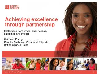 Achieving excellence through partnership
