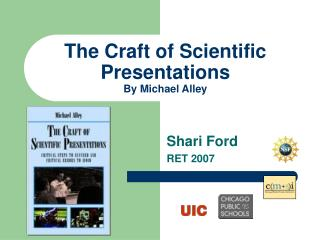The Craft of Scientific Presentations By Michael Alley