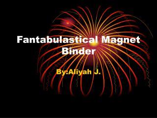 Fantabulastical Magnet Binder