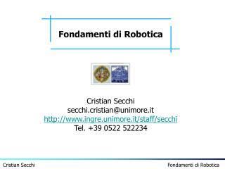 Fondamenti di Robotica