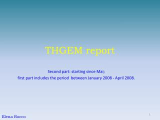 THGEM report