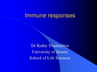 Immune responses