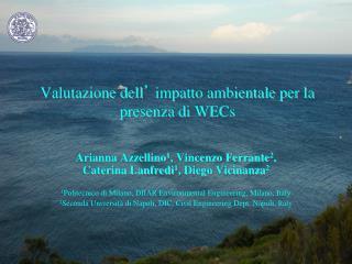 Valutazione dell �  impatto ambientale per la presenza di WECs
