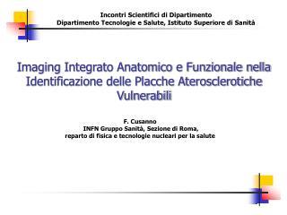 F. Cusanno  INFN Gruppo Sanità, Sezione di Roma,