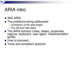 ARIA intro
