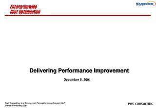 Delivering Performance Improvement