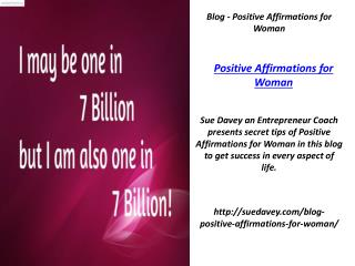 Blog - Positive Affirmations for Woman