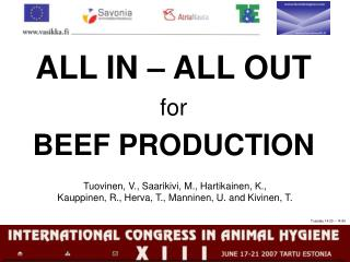 ALL IN � ALL OUT for BEEF PRODUCTION