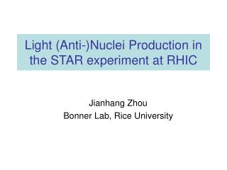 Light (Anti-)Nuclei Production in the STAR experiment at RHIC