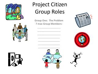 Project Citizen Group Roles
