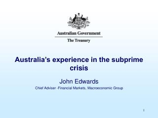 Australia�s experience in the subprime crisis