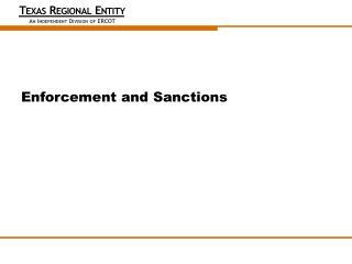 Enforcement and Sanctions