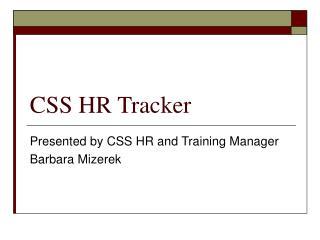 CSS HR Tracker
