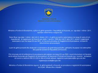 Republika e Kosov s Ministria e Pun ve t  Brendshme