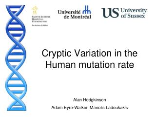 Cryptic Variation in the Human mutation rate
