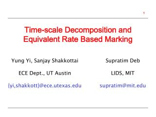 Time-scale Decomposition and Equivalent Rate Based Marking