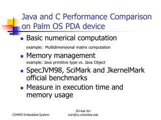 Basic numerical computation example:  Multidimensional matrix computation Memory management