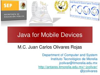 Java for Mobile Devices