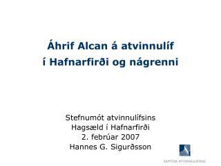 Áhrif Alcan á atvinnulíf  í Hafnarfirði og nágrenni