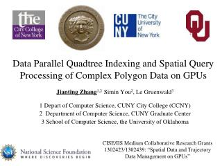 Data Parallel Quadtree Indexing and Spatial Query Processing of Complex Polygon Data on GPUs
