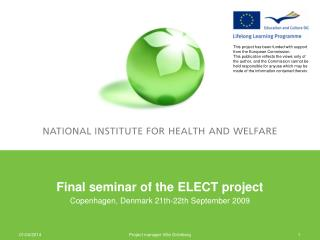Final seminar of the ELECT project