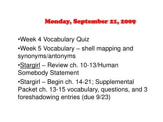 Monday, September 21, 2009