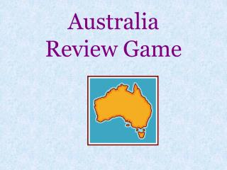 Australia  Review Game